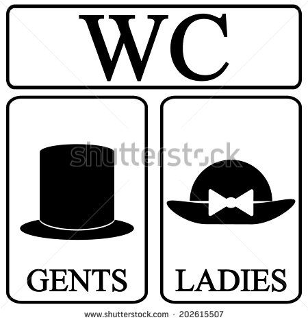 450x470 Restroom Icons Male And Female Restroom Symbol Icons In Retro