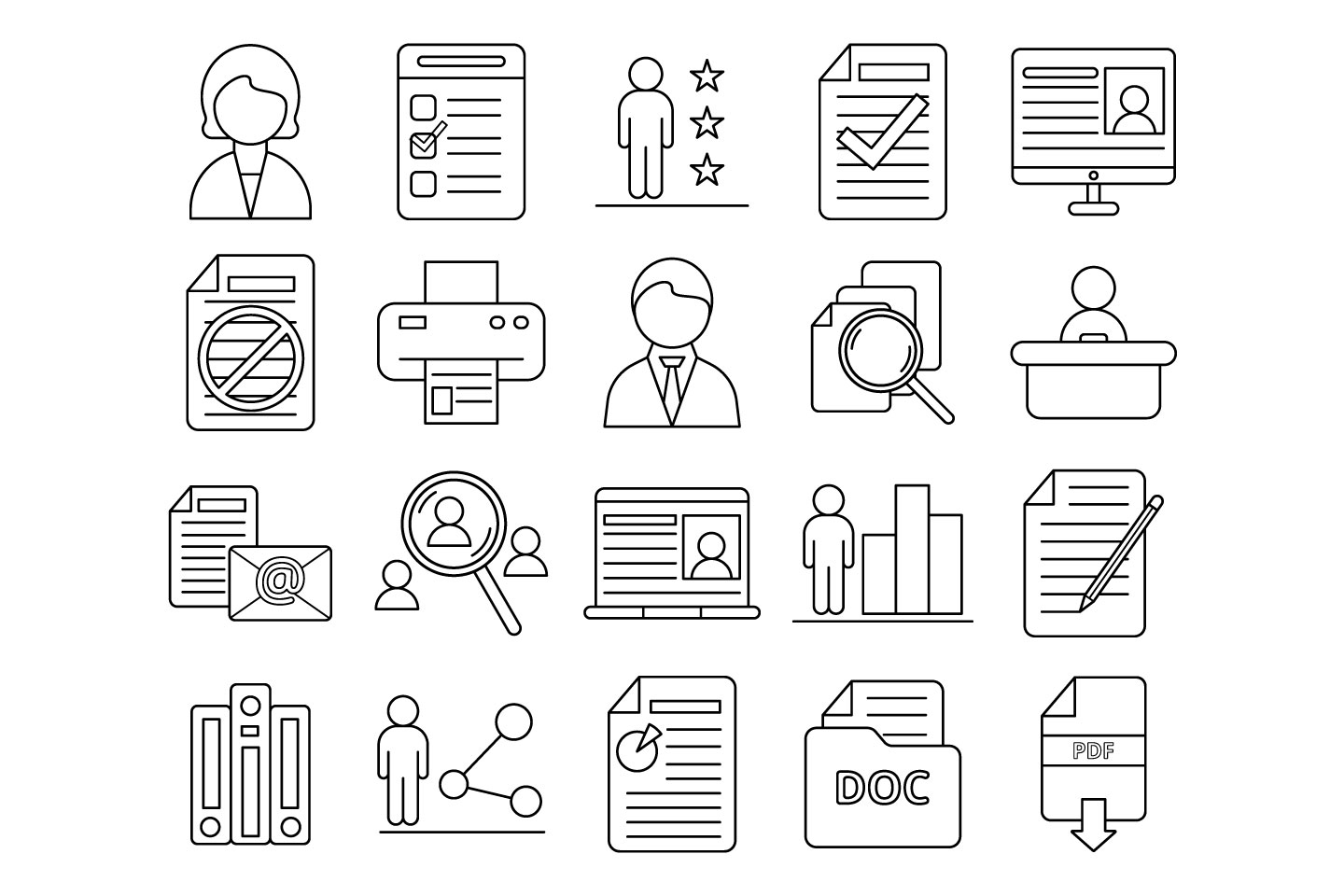 resume icons vector at getdrawings