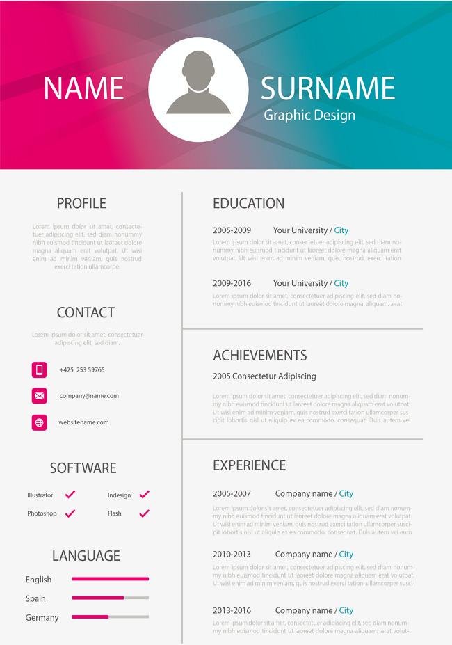 650x927 Gradient Resume, Gradient Vector, Vector Png, Curriculum Vitae Png
