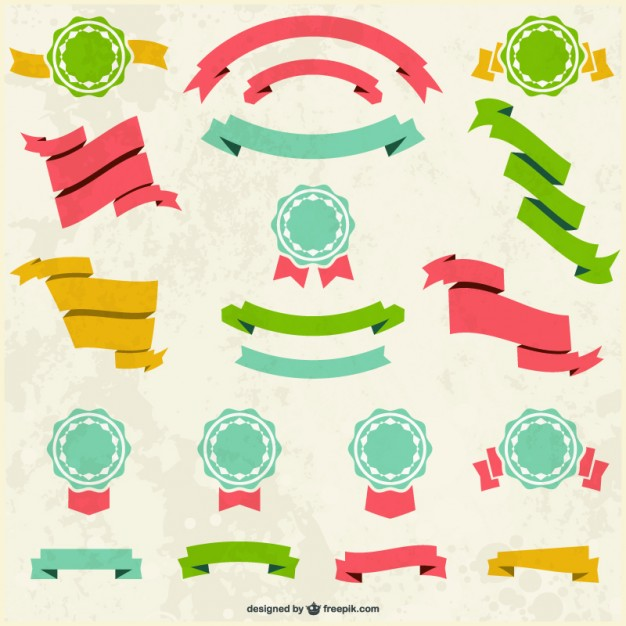 626x626 Retro Banners Badges Set Vector Free Download