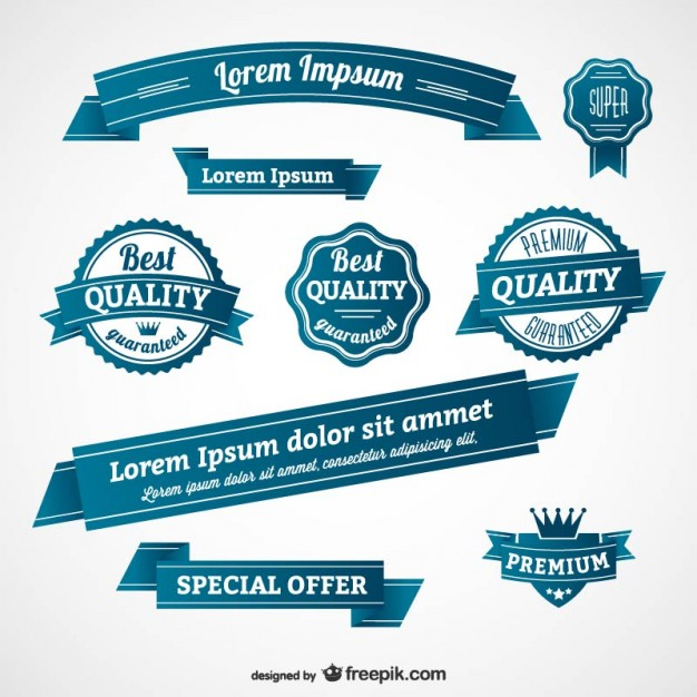 626x626 Blue Retro Badges And Banners Vector Free Download