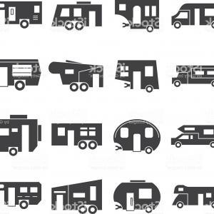 300x300 Stock Illustration Retro Rv Camper Van Old Orangiausa