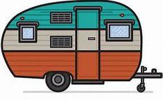 235x145 Vintage Camper Clipart