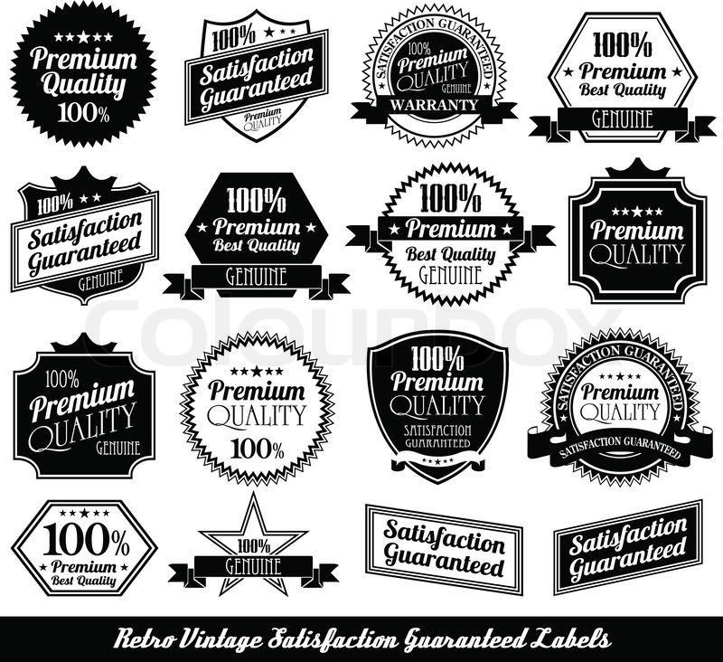 800x732 Premium Quality Labels With Retro Design Stock Vector Colourbox