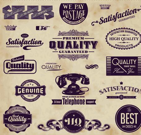 456x436 Retro Of Creative Labels Design Vector Set Free Download