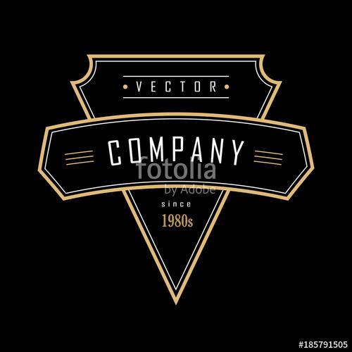 500x500 Vintage Geometric Shape Art Deco Retro Design Badge Logo Stock