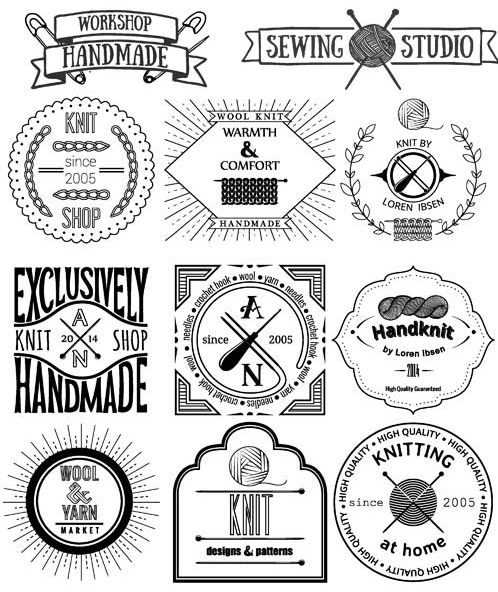 498x592 Hand Made Retro Labels Vector Ai Format Free Vector Download