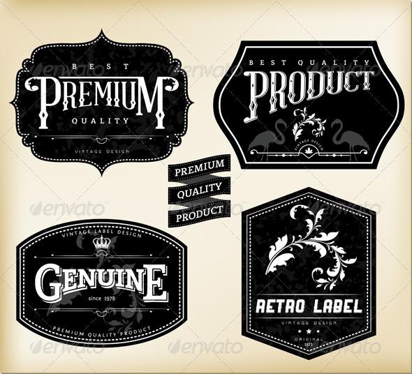 590x536 Retro Labels By Aivectors Graphicriver
