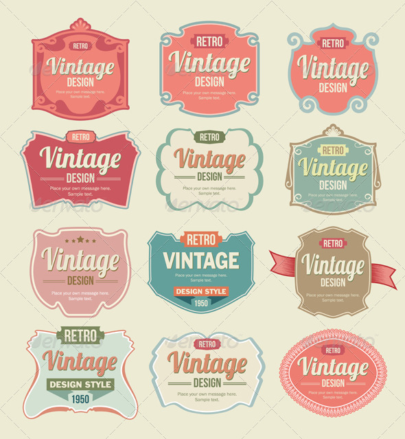 590x639 Vintage Badges And Label Vector Set By Rtguest Graphicriver