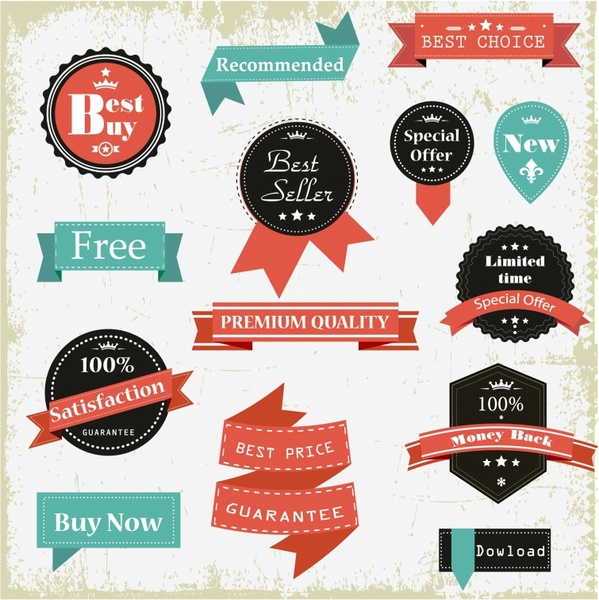599x600 Vintage Labels Free Vector In Adobe Illustrator Ai ( .ai