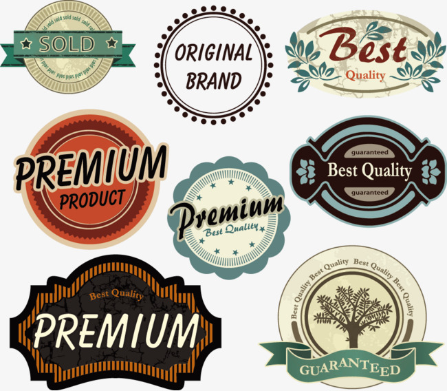 650x568 Vintage Quality Label Vector Material, Retro Label, Quality Label
