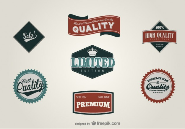 626x435 Best Quality Retro Labels Vector Free Download