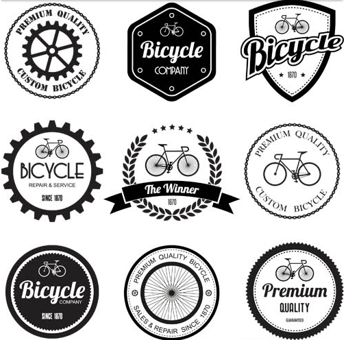 505x496 Bicycle Retro Labels Vector Ai Format Free Vector Download