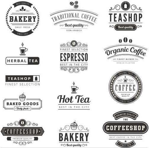 504x501 Coffee Retro Labels Vector Ai Format Free Vector Download