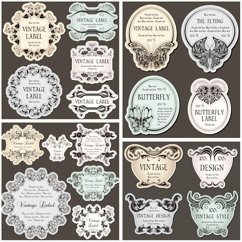800x800 Decorative Vintage Floral Labels Vector Vector Graphics Blog