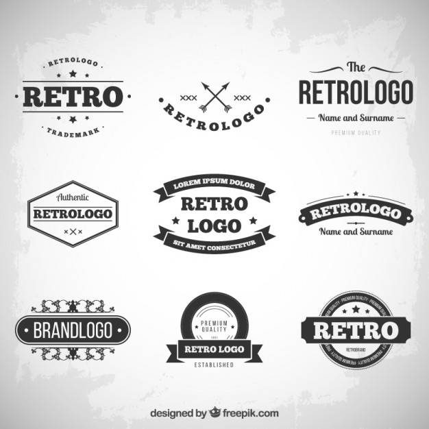 626x626 Retro Logos Retro Logos Collection Vector Free Download