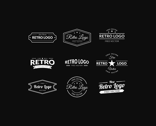 600x486 Retro Logos Vector Free Vectors Freedesigns