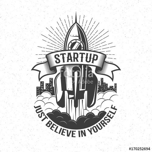 500x500 Startup Retro Logo