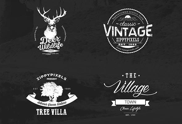 590x402 20 Free Vintage Logo Kits