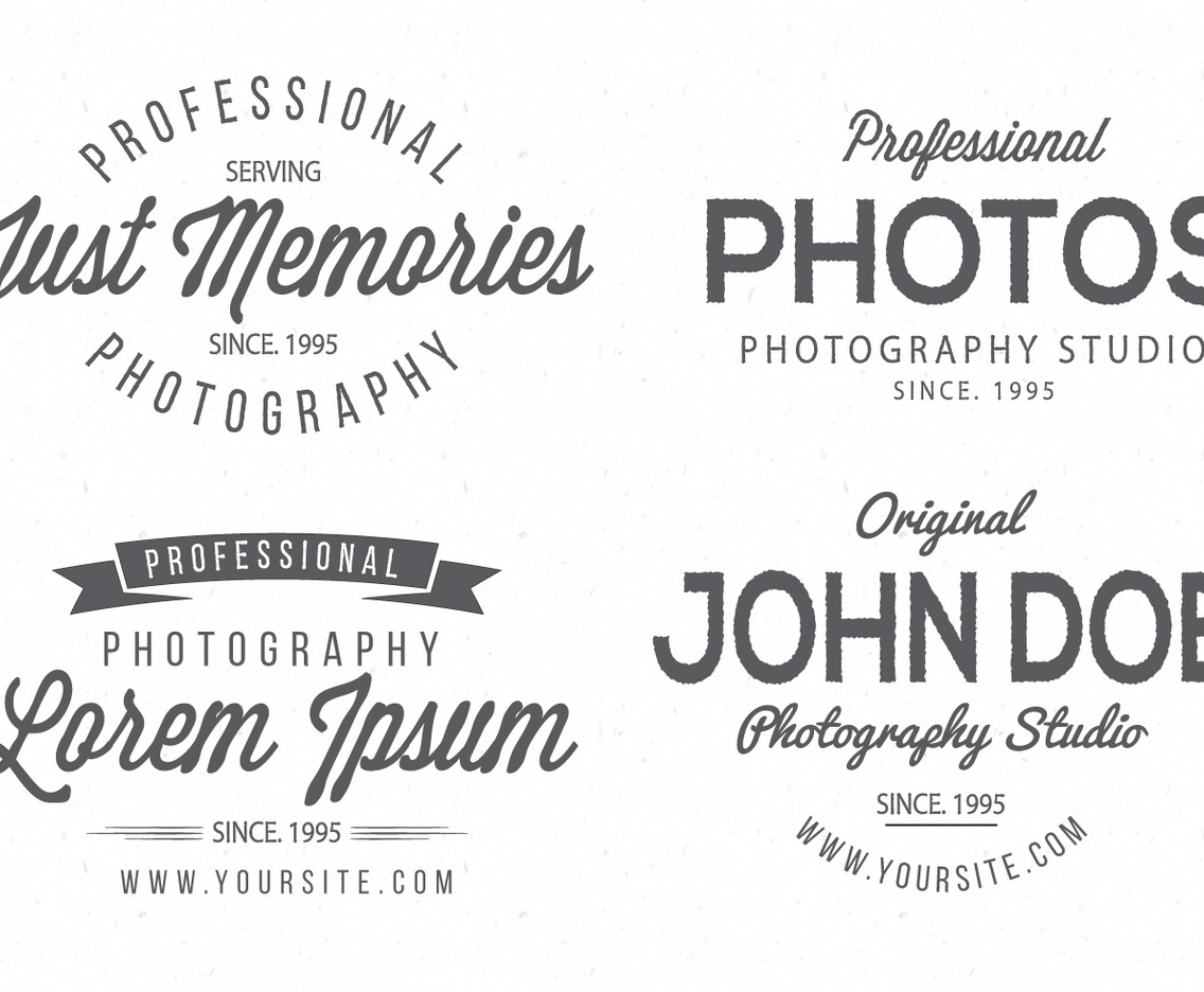 1136x936 Vintage Photography Logo Collection Vector Art Amp Graphics