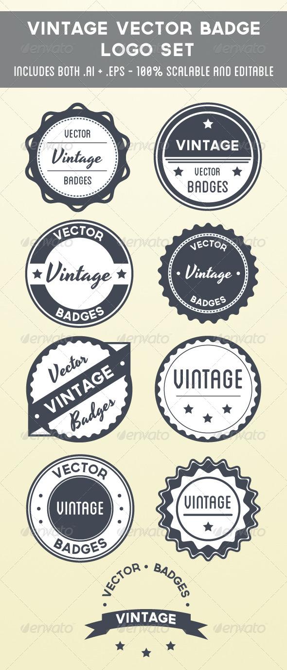 590x1375 Vintage Vector Badge Logo Set By Scottyzer Graphicriver