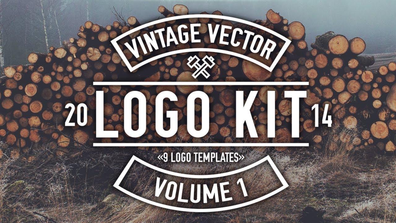 1280x720 Vintage Vector Logo Kit