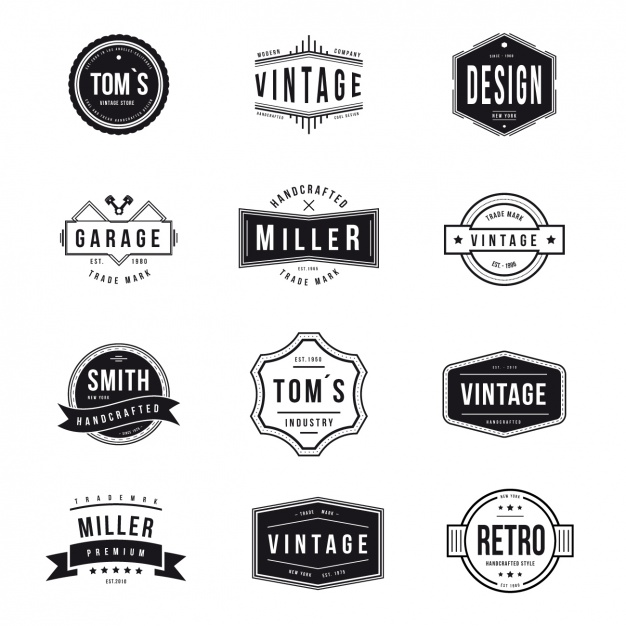 626x626 Vintage Logos Collection Vector Free Download