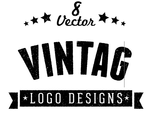600x465 8 Free Customizable Vector Vintage Style Logo Designs