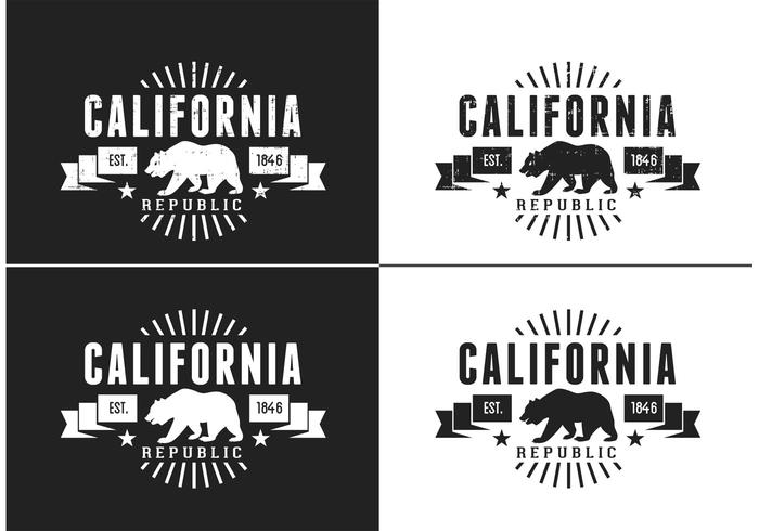 700x490 Free California Bear Vector Retro Logo