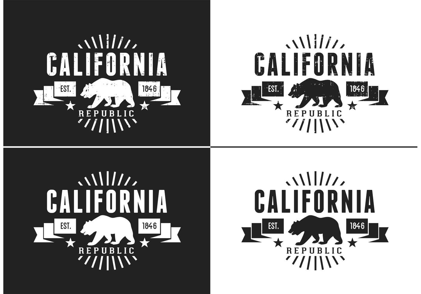 1400x980 Free California Bear Vector Retro Logo Designrockr