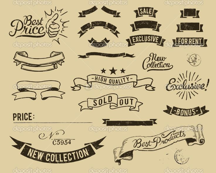 Retro Ribbon Banner Vector