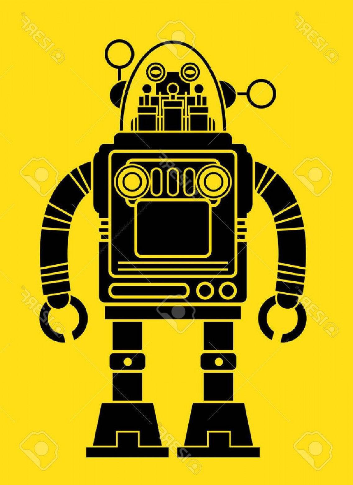 Retro Robot Vector at GetDrawings com | Free for personal