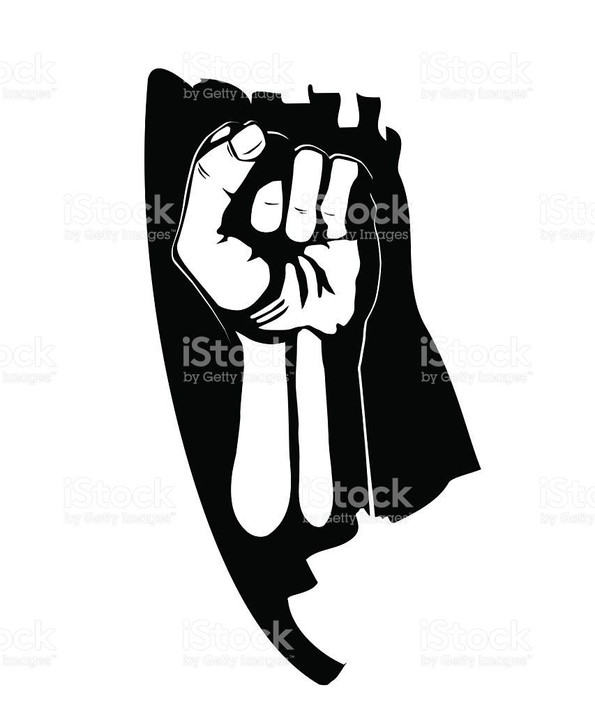 853x1024 Fist Clipart Revolution
