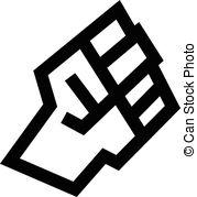179x179 Fist Vector Icon, Revolution Concept.