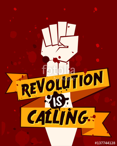 400x500 Clenched Fist Vector Illustration For Resistance And Revolution
