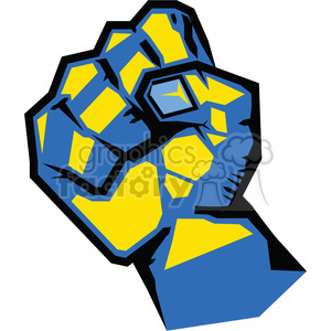 300x300 Royalty Free Clenched Fist 386445 Vector Clip Art Image