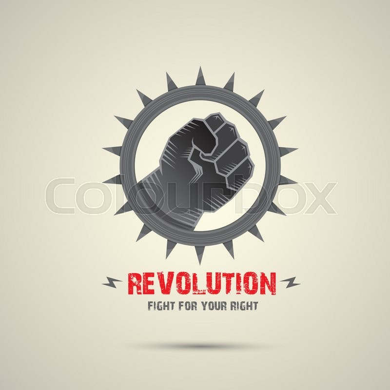 800x800 Clenched Fist. Vector Fist Icon. Revolution Fist. Freedom Concept