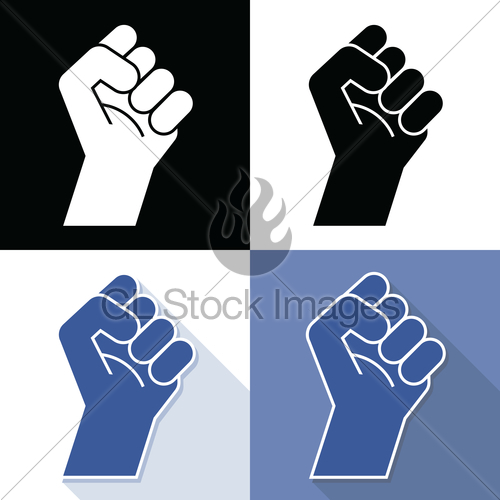 500x500 Fist Revolution Symbol, Vector Gl Stock Images