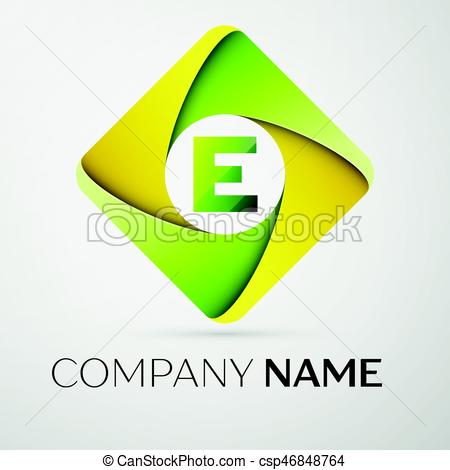 450x470 Letter E Vector Logo Symbol In The Colorful Rhombus. Vector