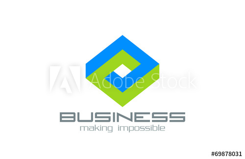 500x324 Logo Business Rhombus Vector Design Abstract Impossible