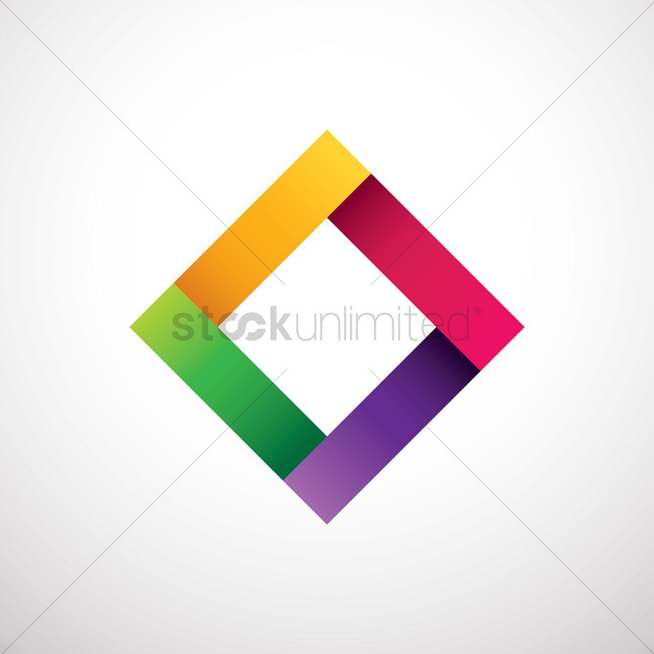 1300x1300 Rhombus Logo Element Vector Image