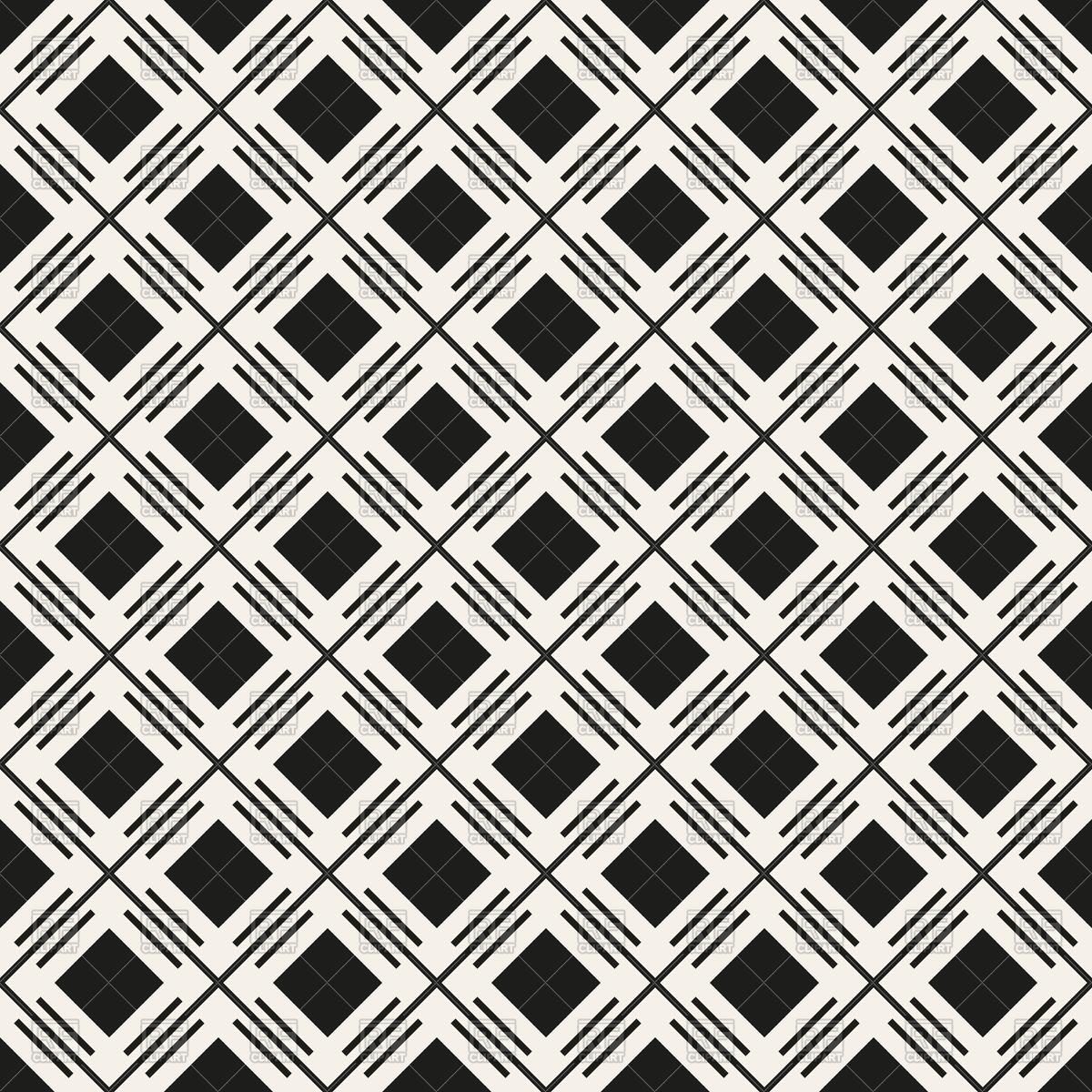 1200x1200 Seamless Geometric Monochrome Pattern With Rhombus Vector Image