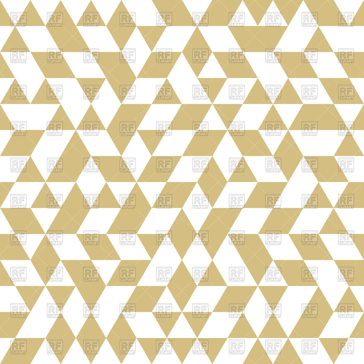 1200x1200 Golden Geometrical Pattern White Triangles And Rhombus Vector