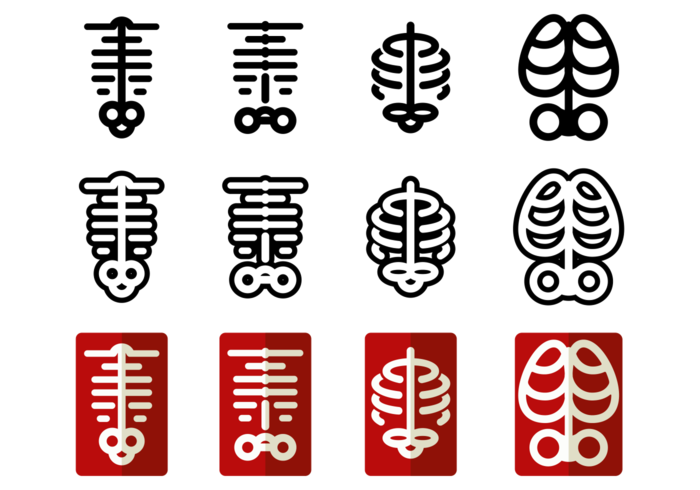 700x490 Ribcage Vector Icons