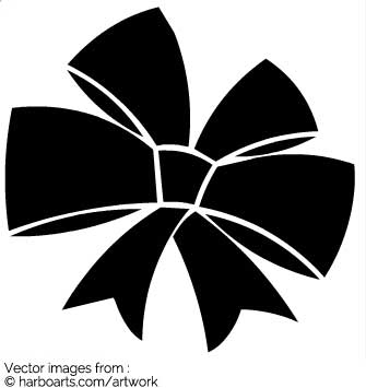 335x355 Download Black Double Ribbon Bow