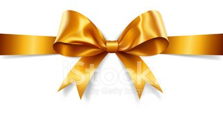 322x200 Gold Gift Bow (Vector) Stock Vectors