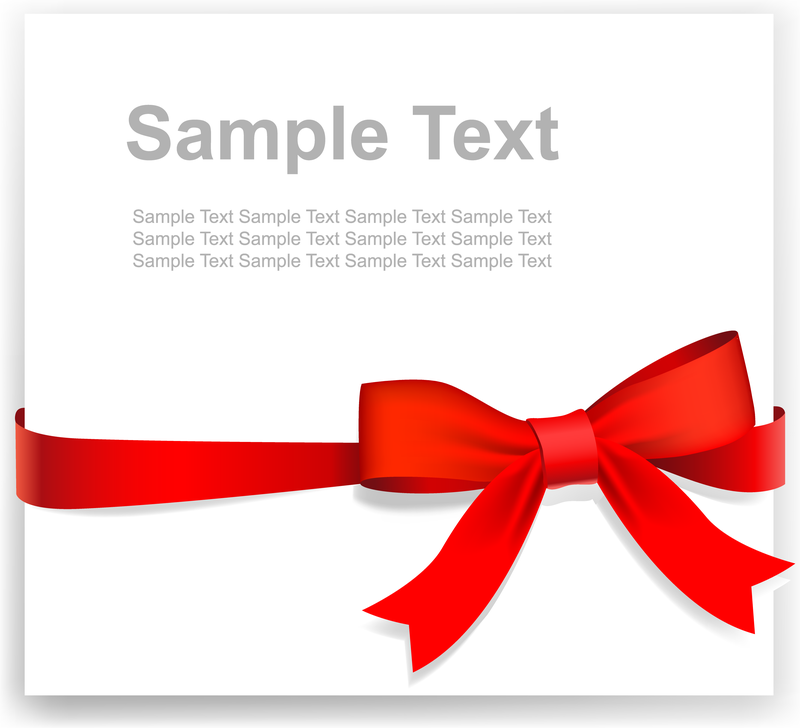 800x728 Practical Ribbon Bow Vector