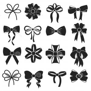 300x300 Stock Illustration Gift Decorative Ribbon Bow Vector Icons Set