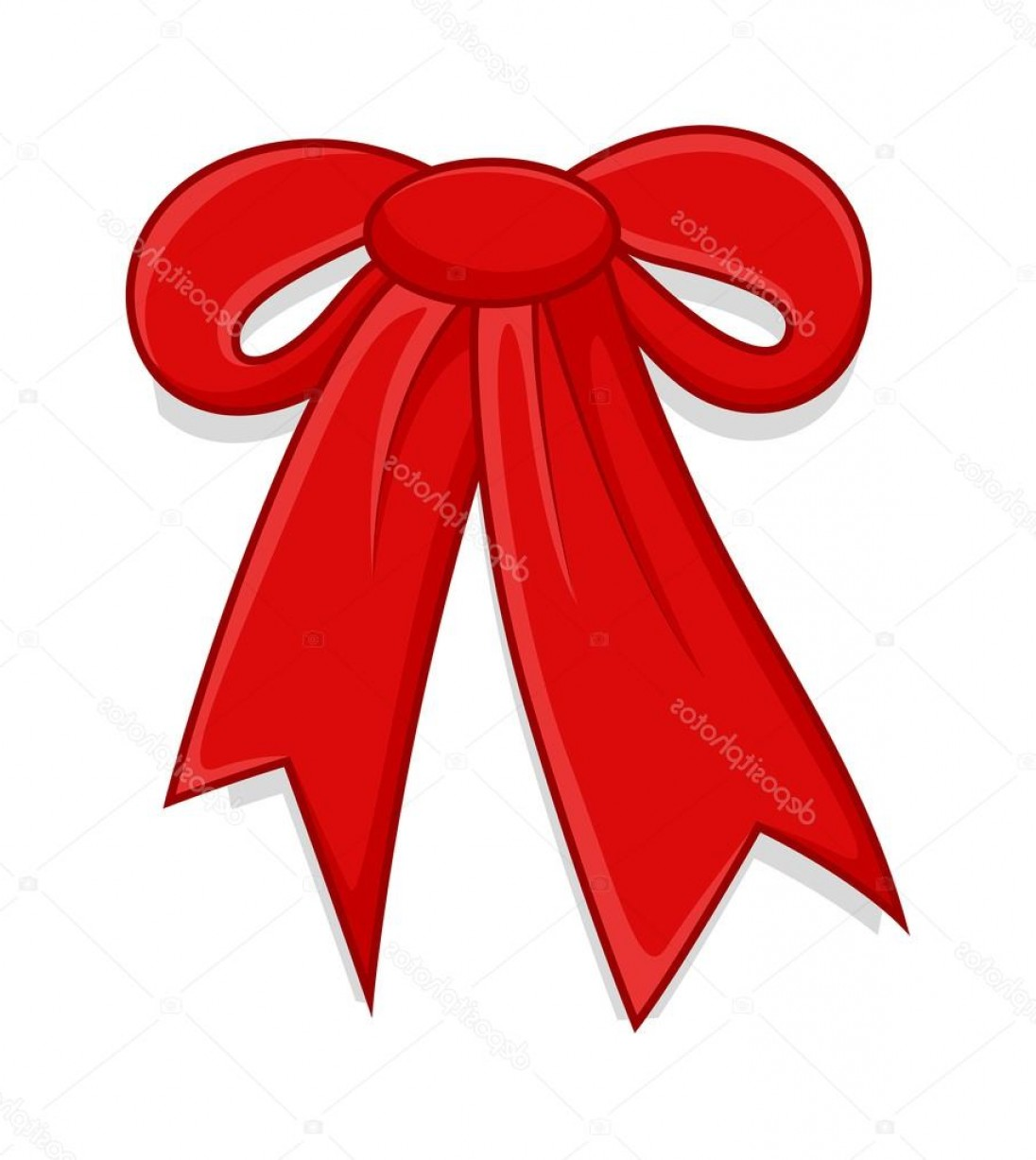 1096x1227 Stock Illustration Red Ribbon Bow Vector Shopatcloth