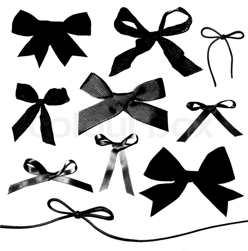 791x800 Bows And Ribbons Isolated On White Background Stock Vector